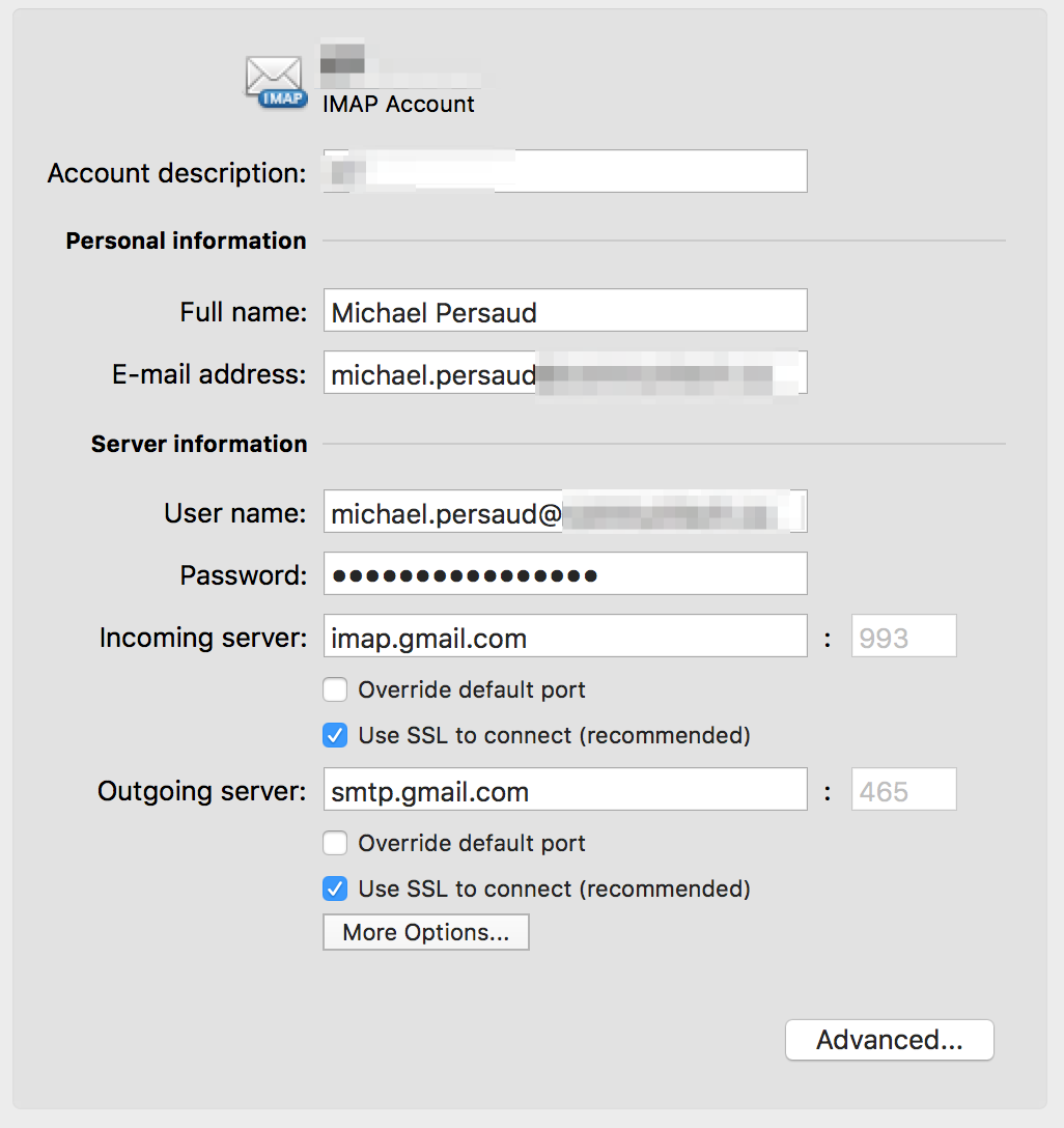 GMAIL – Adding to Outlook for MAC with two-step
